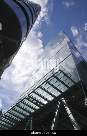 The Leadenhall Building also known as the Cheesegrater in the City of London - Stock Image