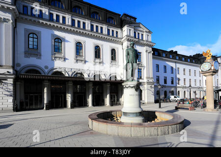 Nils Ericson statue outside the Central train station, Stockholm City, Sweden, Europe - Stock Image