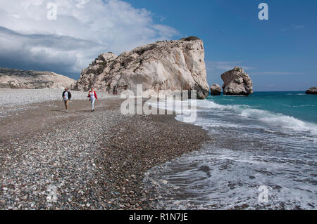 Aphrodite's Beach (Petra tou Romiou), Kouklia, Pafos District, Republic of Cyprus - Stock Image