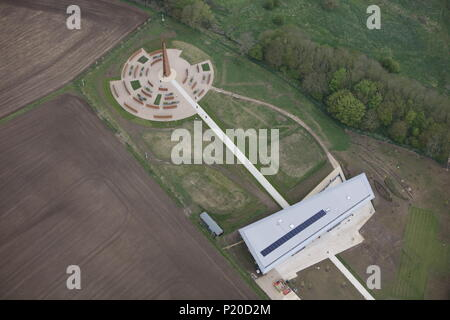 An aerial view of the International Bomber Command Centre, Lincoln. - Stock Image