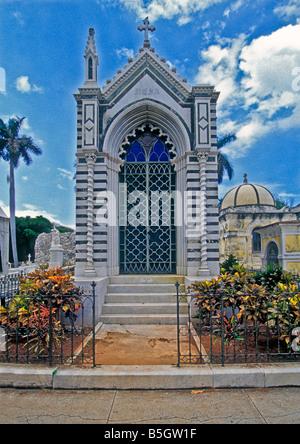 The Necropolis Cristóbal Colón (Havana Cuba Cemetery), Havana graveyard Cristóbal Colón (Christopher - Stock Image