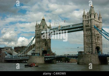 Tower Bridge on the River Thames, London, England - Stock Image