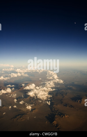 Desert Moon & Cloud Trail - Stock Image