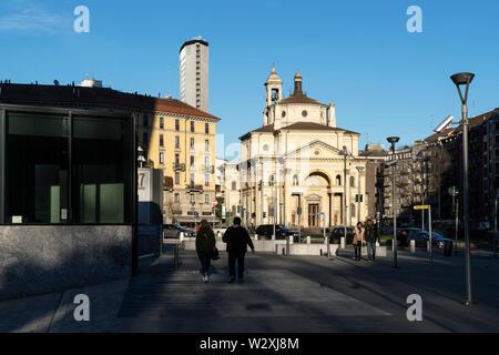 Italy, Lombardy, Milan, San Gioachimo church - Stock Image