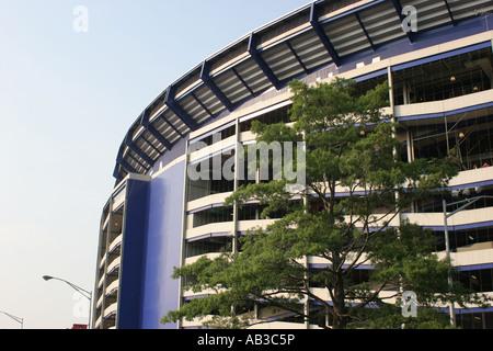 Partial exterior of Shea Stadium, Flushing, Queens, NY, USA - Stock Image