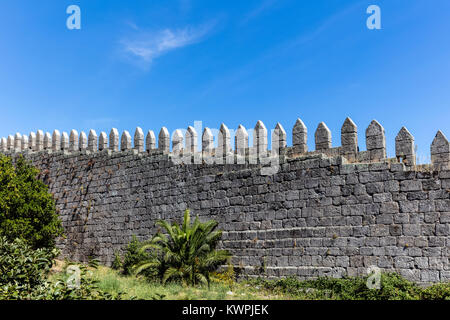 Fragment of the medieval castle called Fernandina Wall located in Porto, Portugal. Construction started in 1336 - Stock Image