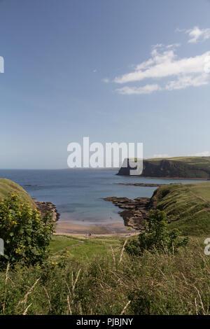 Cullykhan Bay on the Moray coast Aberdeenshire, Scotland, UK. - Stock Image