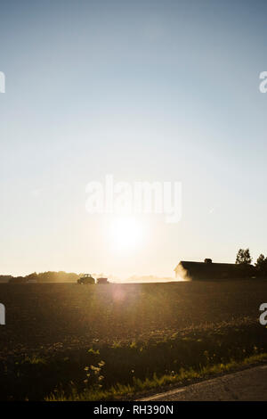 Tractor on field - Stock Image