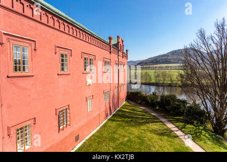 Castle, Klasterec Nad Ohri, Czech Republic, Europe - Stock Image