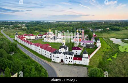 Aerial view of Trinity-Sergius Varnitsky monastery in  Rostov Veliky, Yaroslavl oblast, Russia - Stock Image
