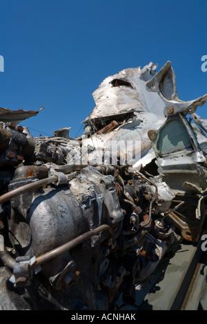 Destroyed ex Yugoslav JRV MiG21 bis - Stock Image