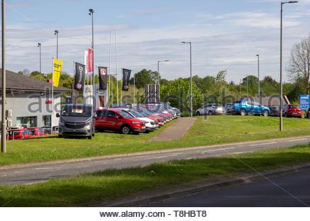 Cars for sale in East Kilbride, South Lanarkshire, Scotland, UK. - Stock Image