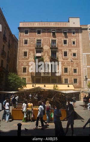 spain Barcelona old city center Barri gotic market - Stock Image