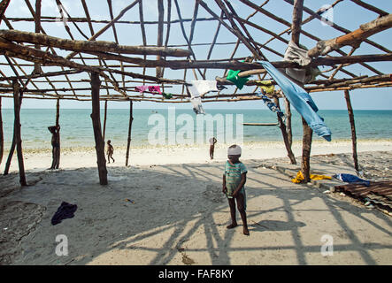 unfinished building in the turtle islands, sierra leone - Stock Image