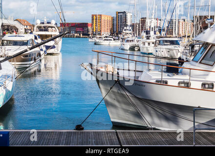 The Ocean Village Marina in Southampton, UK. - Stock Image