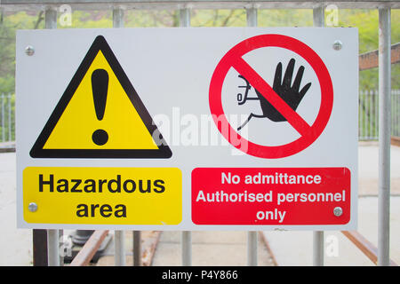 Health and Safety Hazard sign - Stock Image