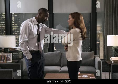 MOLLY'S GAME, IDRIS ELBA , JESSICA CHASTAIN, 2017 - Stock Image