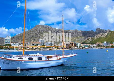 Port de Pollena in Mallorca - Stock Image