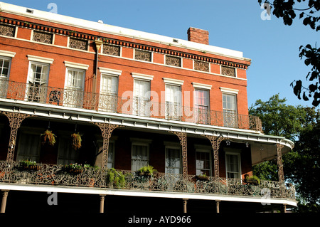 New Orleans LA Louisiana French Quarter building - Stock Image
