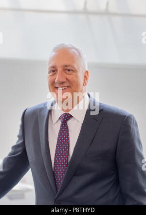 Garden City, New York, USA. June 21, 2018. Former NASA space shuttle astronaut MIKE MASSIMINO is inducted into Long Island Air & Space Hall of Fame Class of 2018 at Cradle of Aviation Museum. - Stock Image