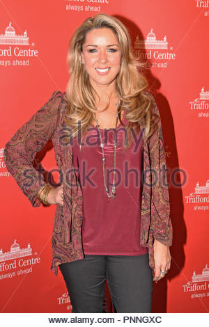 Claire Sweeney at  the Christmas Lights Switch On in the Orient, Trafford Centre, Manchester on Thursday 01 November 2012 - Stock Image