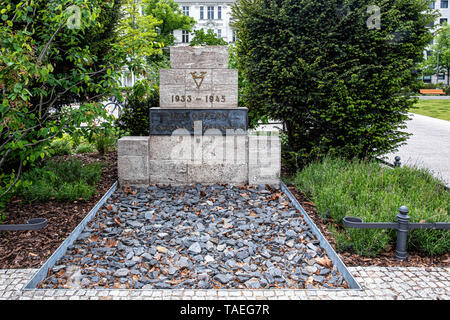 Memorial for the Victims of National Socialism during the Nazi Regime 1933-1945 on Steinplatz, Charlottenburg, Berlin.                                 - Stock Image