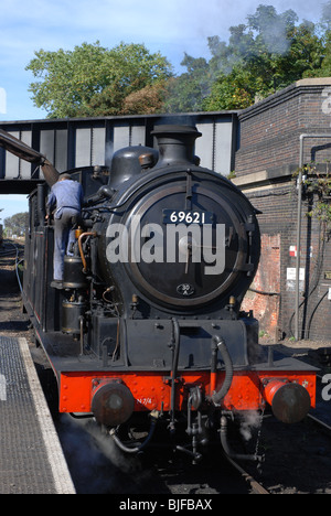 N7 0-6-2T - 69621 tank engine at Sheringham Station , North Norfolk Railway. - Stock Image