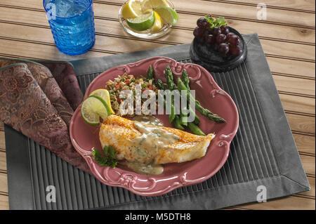 Cod Fish Fillet Dinner - Stock Image