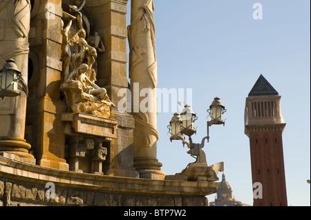 Placa d'Espana, Barcelona, Spain - Stock Image