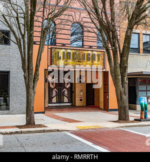 GREENSBORO, NC, USA-2/14/19: Entrance to the Limelight Lounge, on Elm St. - Stock Image