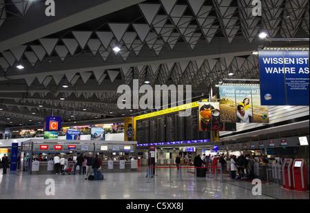 Frankfurt Airport Departure Hall interior - Stock Image