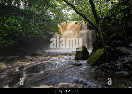 Summerhill Force, Bowlees, Teesdale, County Durham, UK. - Stock Image
