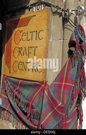 Celtic Craft Centre in Edinburgh Scotland Capital city - Stock Image