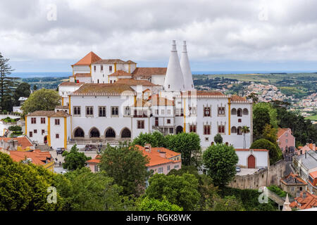 The National Palace of Sintra, Portugal - Stock Image