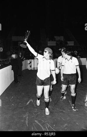Elton John pictured in Wembley during a 5 a side football match, which Elton's team won. Empire Pool, Wembley. 6th November 1977. - Stock Image