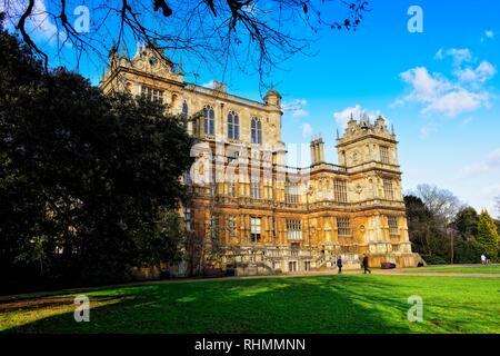 Wollaton Hall Nottingham England uk - Stock Image
