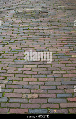 Background texture of a cobbled street. - Stock Image
