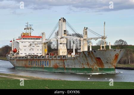 General cargo vessel Chong Ming - Stock Image