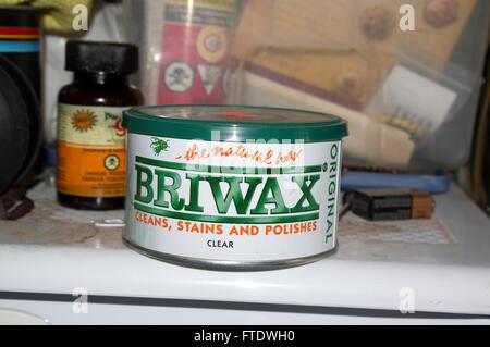 briwax, all natural wood polish,wood - Stock Image