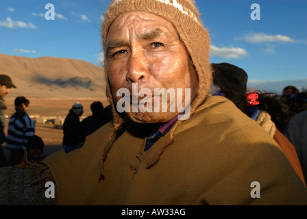 Colla Chief, Mr. Julio Cruz in Tolar Grande, Province of Salta, Argentina, South America - Stock Image