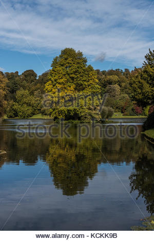 Stourhead Garden in Wiltshire - Stock Image