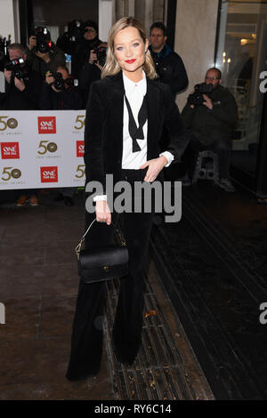 London, UK. 12th Mar, 2019. LONDON, UK. March 12, 2019: Laura Whitmore arriving for the TRIC Awards 2019 at the Grosvenor House Hotel, London. Picture: Steve Vas/Featureflash Credit: Paul Smith/Alamy Live News - Stock Image