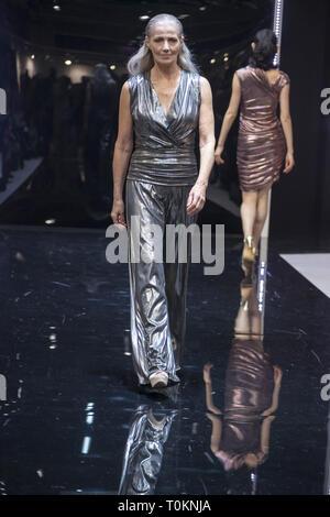 Models on the catwalk at MODA 2019 in Birmingham  Featuring: Jane Where: Birmingham, United Kingdom When: 17 Feb 2019 Credit: Anthony Stanley/WENN.com - Stock Image
