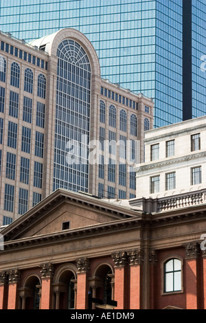 Close-up abstract view of four buildings in Back Bay Boston MA USA - Stock Image