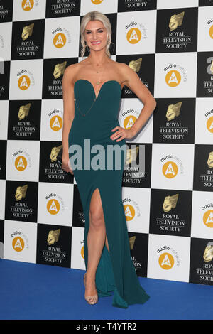 The Royal Television Society Awards (RTS Awards) 2019 held at Grosvenor House Hotel - Arrivals  Featuring: Sarah-Jayne Dunn Where: London, United Kingdom When: 19 Mar 2019 Credit: Lia Toby/WENN.com - Stock Image