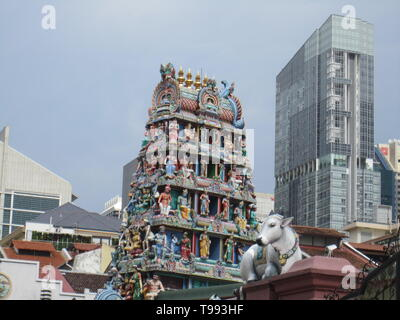 Sri Mariamman Temple, Singapore - Stock Image
