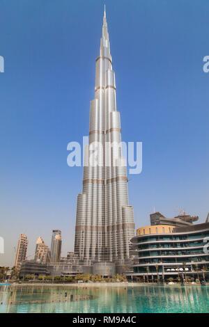 Burj Khalifa in Dubai, United Arab Emirates. - Stock Image