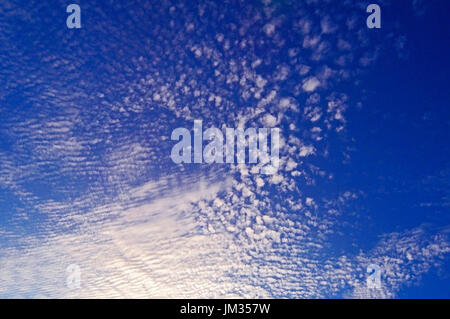 Stunning display of Altocumulus clouds over the Mediterranean Island of Cyprus - Stock Image