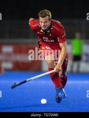 Krefeld, Germany, 12.06.2019, Hockey, FIH Pro League, men, Germany vs. Belgium: Maxime Plennevaux (Belgium) in action. - Stock Image