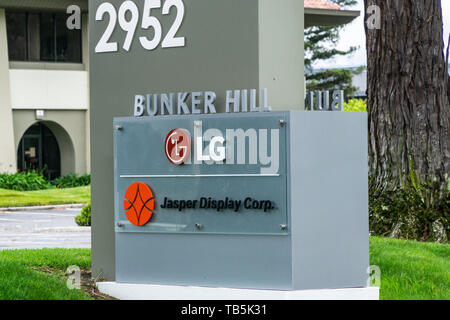 LG corporation and Jaeger Display in the Silicon Valley California USA - Stock Image